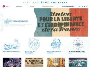 Accueil du site Educ'Archives