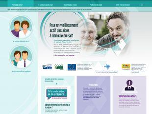 """Accueil du site """"Pour un vieillissement actif des aides à domicile du Gard"""""""