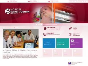 Accueil du site de l'hôpital Saint Joseph