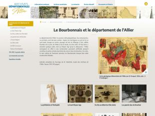 Page type des Archives de l'Allier
